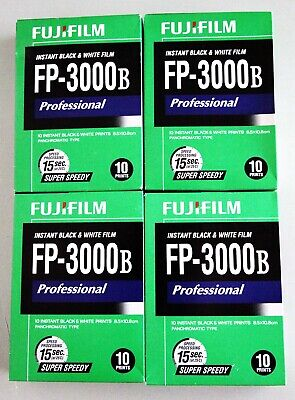 "4 Packs of 10 Prints : FujiFilm FP-3000B 3.25"" x 4.25"" Cold Stored- New In Box"