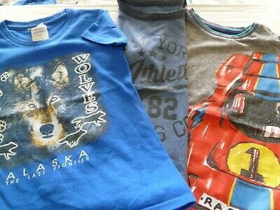3 Boys Short Sleeved T Shirts Age 3 - 4 years