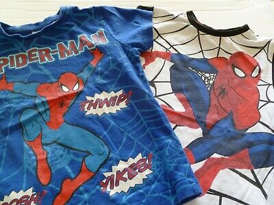 2 Short Sleeved Spider-Man T Shirts Age 3 - 4 years