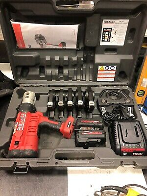 "Ridgid Brand Pro Press Crimper Set Model RP340 6 Jaws 1/2"" Through 2"""
