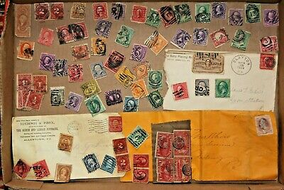 Vintage United States Stamp Collection Postmarks used #1