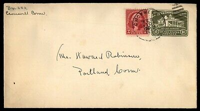 Mayfairstamps US COVER 1932 CONNECTICUT CROMWELL TO PORTLAND wwe12393