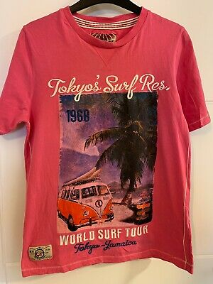 Boys Tokyo Laundry Pink Cotton T Shirt Size S 12-13 Years