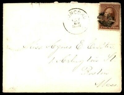 Mayfairstamps US COVER 1886 CONCORD TO BOSTON MA wwe11225