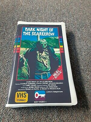 Dark Night Of The Scarecrow ~ Convention Tape clamshell Boot ~ Rare Horror VHS