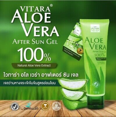 After Sun Aloe Vera Gel Pure 100% Natural Color-Alcohol-Fragrance Free Face Body