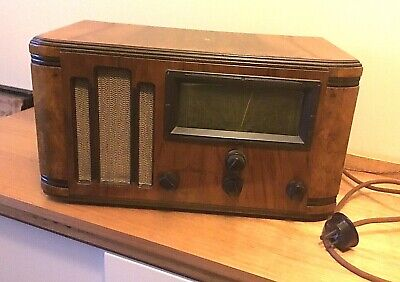 Vinage HMV Wooden Cased Radio