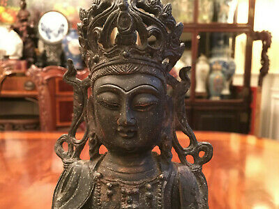 A Rare Chinese Ming Dynasty Bronze Statue.