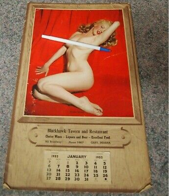 Marilyn Monroe Tom Kelly Vintage 1952 Golden Dreams Calendar