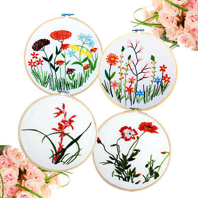 Wooden Cross Stitch Machine Bamboo Hoop Ring Embroidery SewingH&^