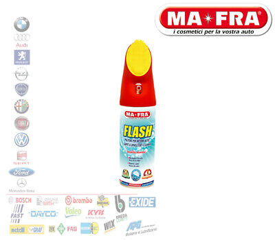 Ma-Fra Flash Spray 400Ml Pulitore A Secco Con Spazzola Interni Auto Camper H0544