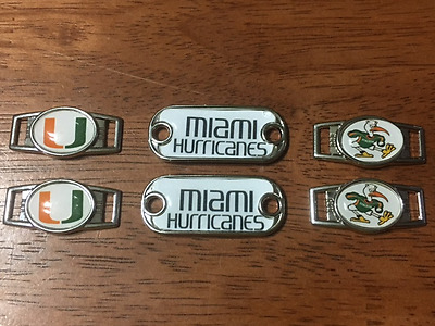 University Of Miami HURRICANES Ibis Shoelace Charms 4 Paracord Projects NCAA 2