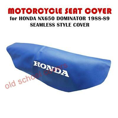 Motorcycle Seat Cover Honda Nx650 Nx 650 Dominator 1988-1989 Blue Seamless Style