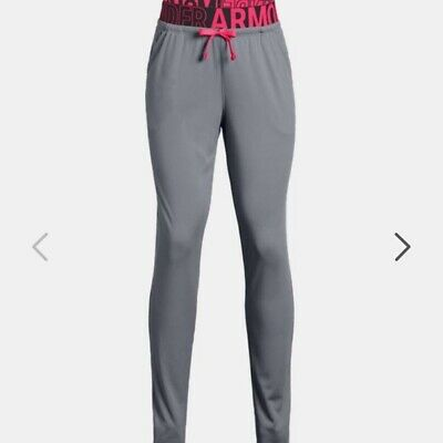 Bnwt -  Girls Under Armour Graphic Leggings - Grey Graphic Size Ysm    7 - 8 Yrs