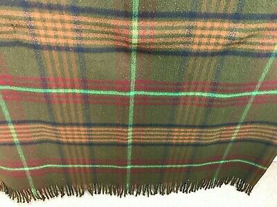 """Large Antique Chase All Wool Sleigh Lap Blanket, Large  80"""" x 60"""""""