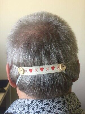 Face Mask button Band - ideal for nurses