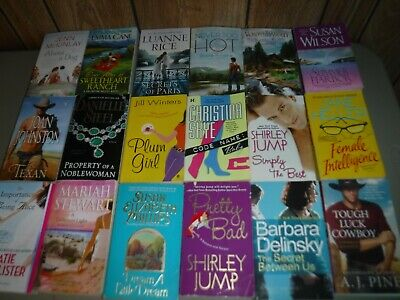 Lot Of 18 Romance Novels By Assorted Authors Paperbacks English