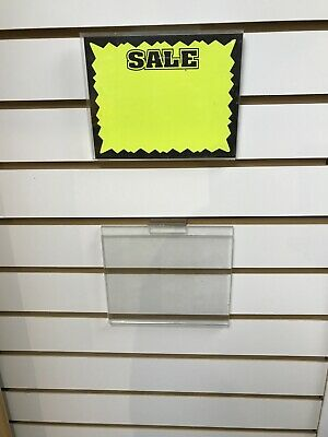 "(40) Used Acrylic 5 1/2"" x 7"" Sign Holders"