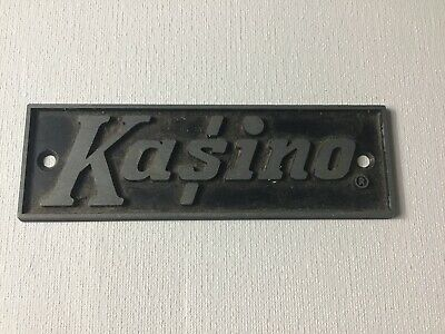 Vintage Kasino Kustom Amp Badge Guitar Advertising