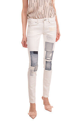 GUESS Jeans W25 L32 Stretch Ripped Style Worn Look Patched Stitched Zip Fly