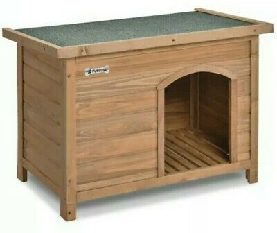 ^ Purlove Large Outdoor Dog Kennel Winter Pet House Shelter Wooden Hut 70:21
