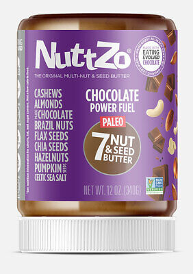 12 Ounce NuttZo Paleo Chocolate Power Fuel Seven Nut & Seed Butter