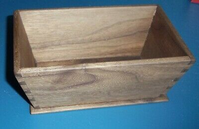 Small slant-sided Walnut open-top container, Shaker-style , dovetailed