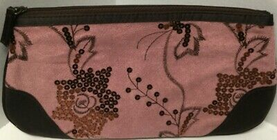 Avon Brown/Pink Wristlet with Sequins