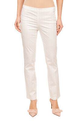 AT.P.CO Trousers Size 42 / M Stretch White Flat Front Zip Fly