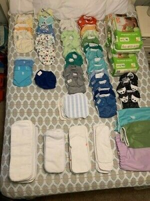Huge cloth diaper lot used BumGenius Original 5.0 Freetime Sprayer .. +220 items
