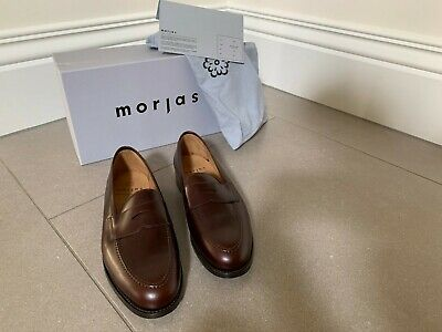 Morjas Penny Loafer Brown Calf Skin Shoes Size 8