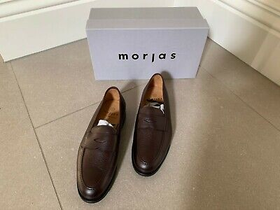 Morjas Penny Loafer Burgundy Grain Skin Shoes Size 8