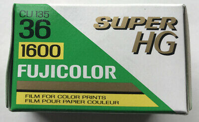 FUJICOLOR Super HG 1600 36 EXP 35mm Color Film Fuji Sealed Expired NOS
