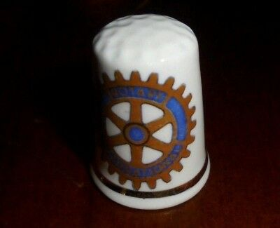 Collectable Bne China Thimble ~ Rotary Club of Longton ~ VGC!  #16