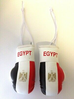 Mini Boxing Gloves for hanging Car Mirror  Flag EGYPT