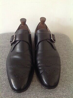 "Mens Black Leather Brogues By M Lifestyle Size UK 8 US 9.5"" ...."
