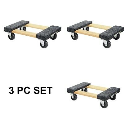 3 Piece Set Moving Dolly Furniture Heavy Duty New