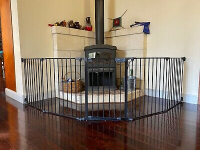 Quality Used Steel Safety Gate Hearth Guard Black Five Side
