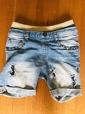 Rock Your Baby Kid Size 4 Stud Shorts