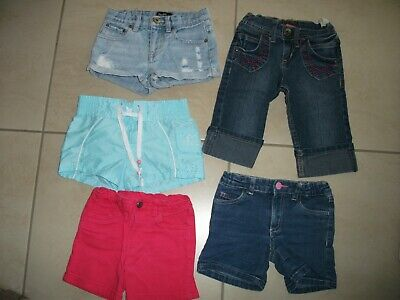 Girls Size 4 Shorts  Bundle.  Great Designs and Styles.