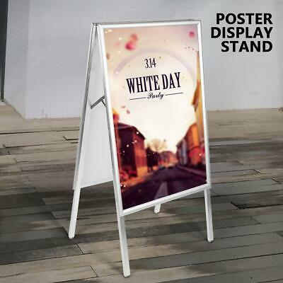 A1 A-Board Pavement Sign Double Sided Snap Poster Display Stand  Indoor Outdoor