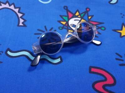 Vintage 80s Jag Sunglasses Clear Frame Polarized 90s Goggles New Wave Party RARE