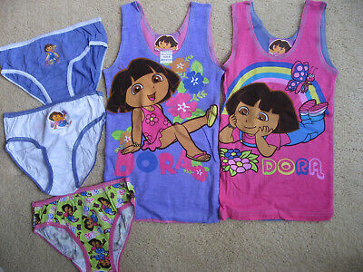 Girls Dora Licenced 2 Singlet and 3pk Brief Underwear size 6-8 New