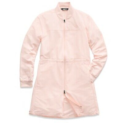 The North Face Women's Flybae Pink Salt Long Line Bomber Jacket Size XL