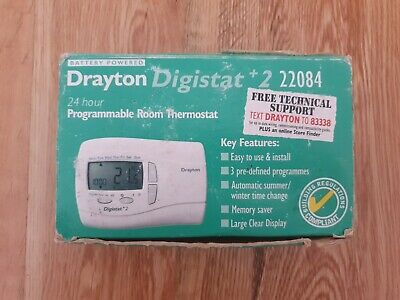 Drayton DIGISTAT +2 22084 24 Hour PROGRAMMABLE Room Thermostat NEW