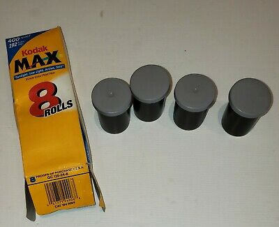 Kodak max 400 film 35mm film 4 rolls  -DATE EXPIRED-