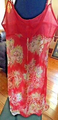 Boutique Coral Lace and Floral Teddy Pajama Dress Size XS NWOT
