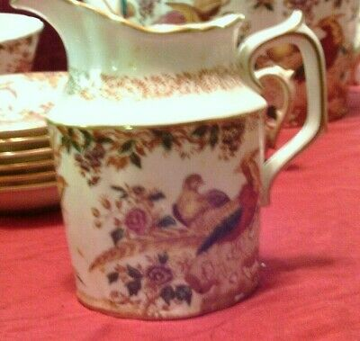 "Royal Crown Derby English bone china Old Avesbury Cream Pitcher, 4""tall Pristine"