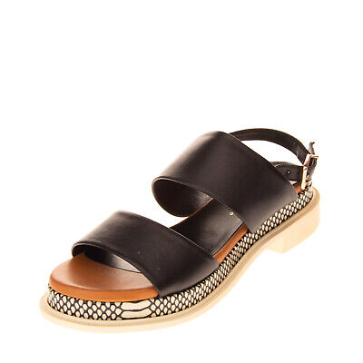 RRP€315 ROBERT CLERGERIE Leather Slingback Sandals Size 37 EU 36.5 UK 3.5 US 6.5