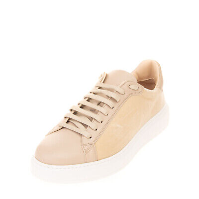 RRP €475 FABIANA FILIPPI Velour & Leather Sneakers EU41 UK7 US9.5 Made in Italy